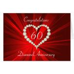 Love Heart Diamond Anniversary Greeting Card