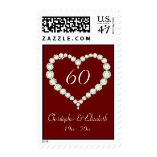 Love Heart Diamond Anniversary Postage