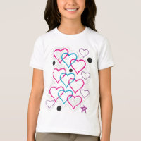 Love heart doodles T-Shirt