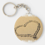 Love Heart Drawing Keychain