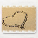 Love Heart Drawing Mouse Pad