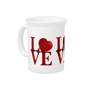 Love Heart Drink Pitcher