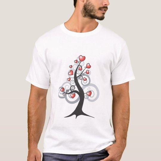 Love heart fantasy tree T-Shirt
