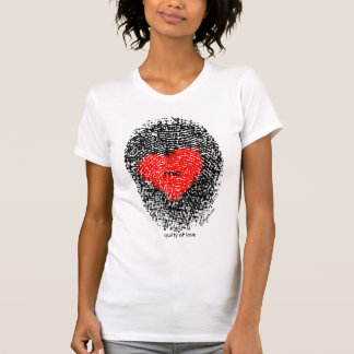 Love Heart Fingerprint T shirt