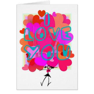 LOVE-HEART for Mum Card