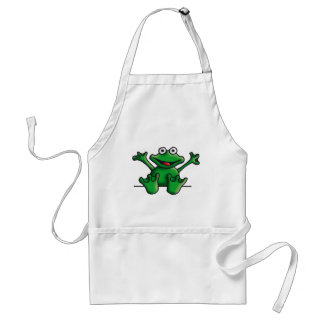 love heart frog adult apron