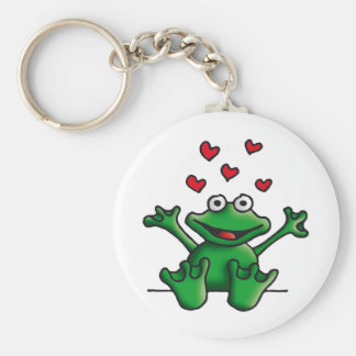 love heart frog keychain