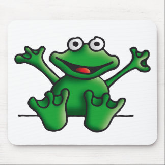 love heart frog mouse pads