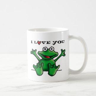 love heart frog classic white coffee mug