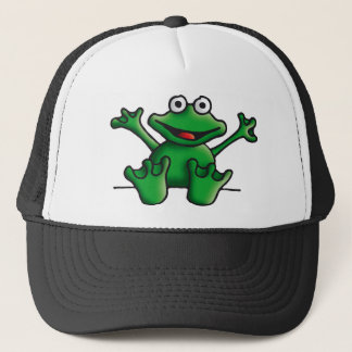 love heart frog trucker hat