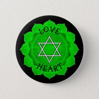 LOVE HEART GREEN Chi Chakra Button