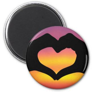 Love Heart Hands Magnet