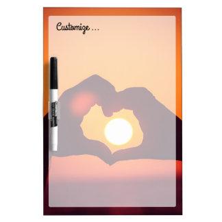 Love Heart Hands Symbol Dry-Erase Board