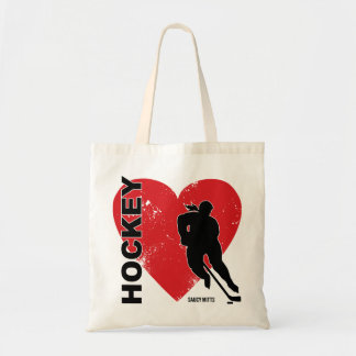 Love Heart Hockey Women's Tote Bag