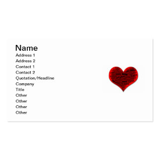 Love Heart in Red Business Card