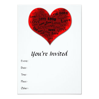 Love Heart in Red Card