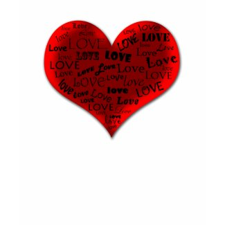 Love Heart in Red shirt