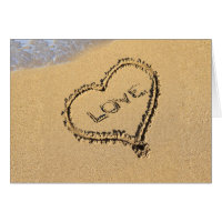 Love Heart in the Sand Card