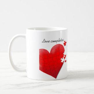 Love heart jigsaw puzzle mug