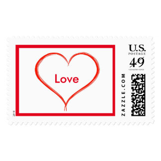 Love heart Large postage stamp