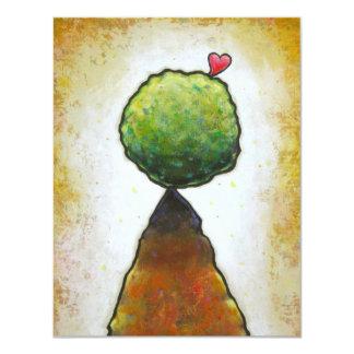 Love heart leaping beautiful fun contemporary art card