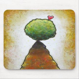 Love heart leaping beautiful fun contemporary art mousepads