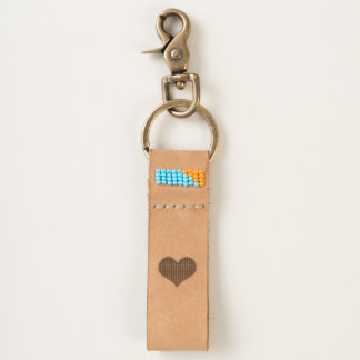 LOVE -Heart- Leather Keychain