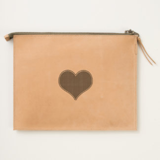 LOVE -Heart - Leather Travel Pouch