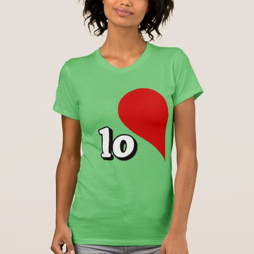 LOVE HEART LEFT SIDE -.png Tee Shirts