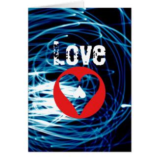 Love Heart Light-Paint Photo Valentine's Card