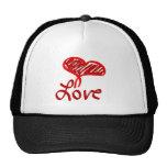 Love Heart Mesh Hat