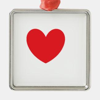 love heart metal ornament