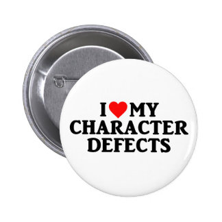 LOVE HEART MY CHARACTER DEFECTS Recovery Pin