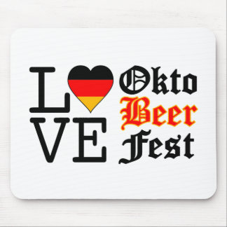Love Heart Oktobeer fest Mouse Pad