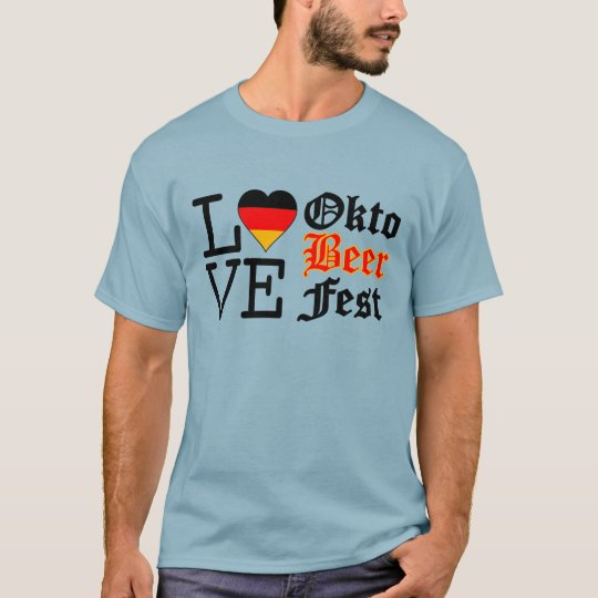 Love Heart Oktobeer fest T-Shirt