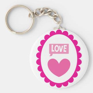 Love heart on a cameo keychain