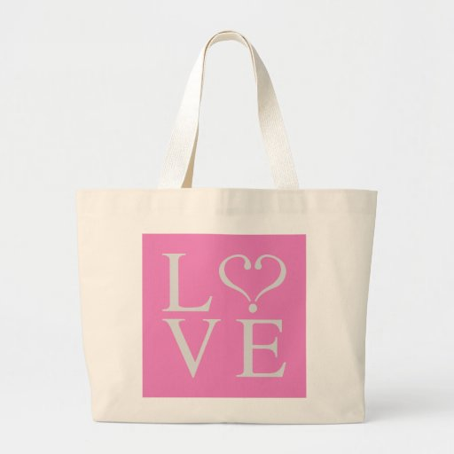 Love heart opened in gray on pink bottom bags