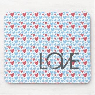 Love heart pattern mouse pad