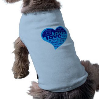 Love Heart pet clothing - choose style & color