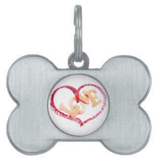 Love Heart Pet ID Tag