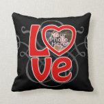 Love Heart Photo Frame Custom Pillow