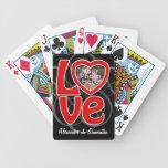 Love Heart Photo Frame Custom Playing Cards