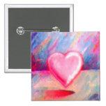 Love Heart Pinback Buttons