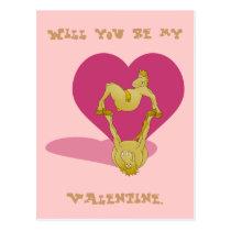 Love heart ponies postcard