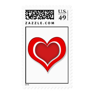 Love Heart Postage