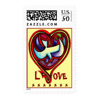 Love Heart Postage