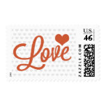 Love Heart Postage Stamp