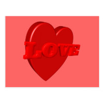 Love Heart Postcard