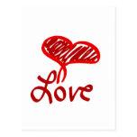 Love Heart Postcards