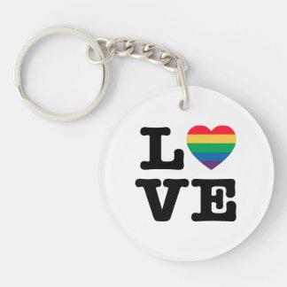 Love Heart Pride Acrylic Keychain